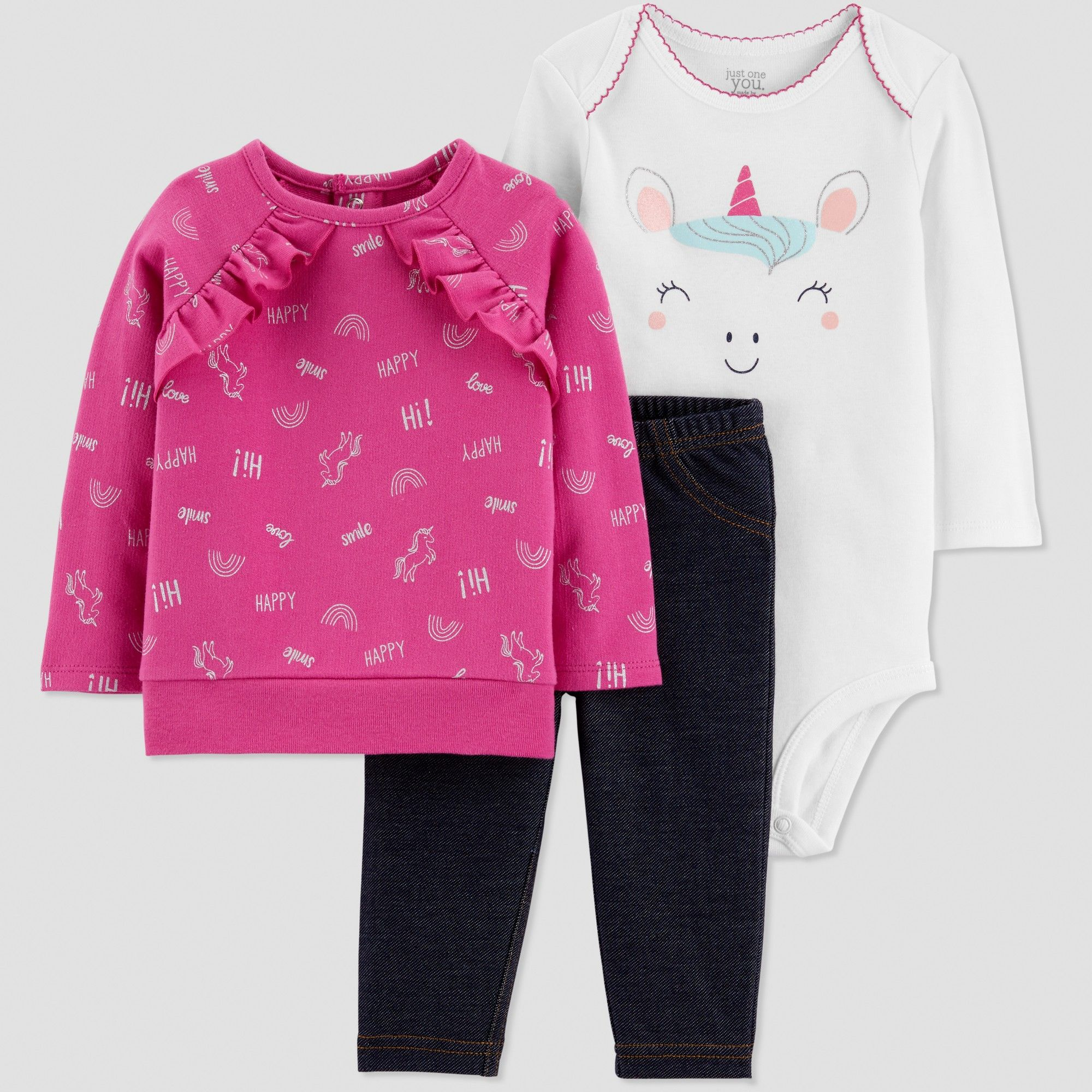 7b202dced812 Baby Girls' 3pc French Terry Unicorn Set - Just One You made by ...