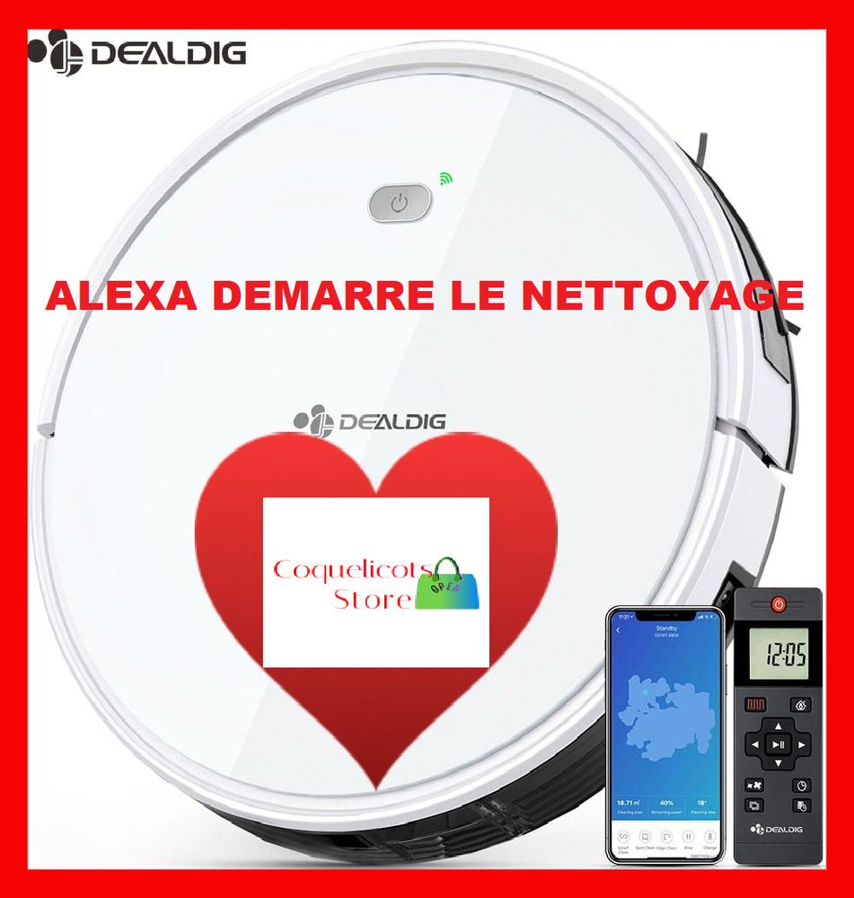 Nouveau Robot Forte Aspirateur Wifi Connectivite App Alexa Telecommande Solide In 2020 Pie Chart Charger Pad Alexa