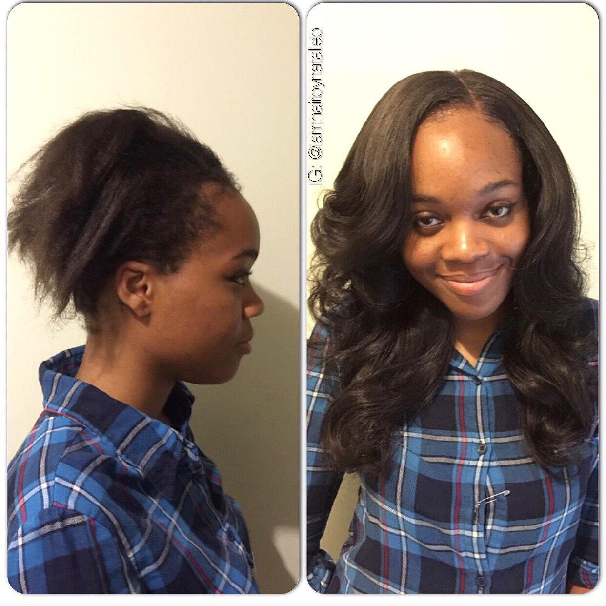 Before After Traditional Sew In Hair Weave With Leave Out Call Or Text Natalie B At 3 Weave Hairstyles Interview Hairstyles Sew In Weave Hairstyles