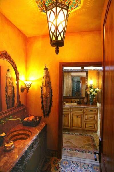 "hacienda-style bathroom from ""bathroom decor ideas: hacienda style"