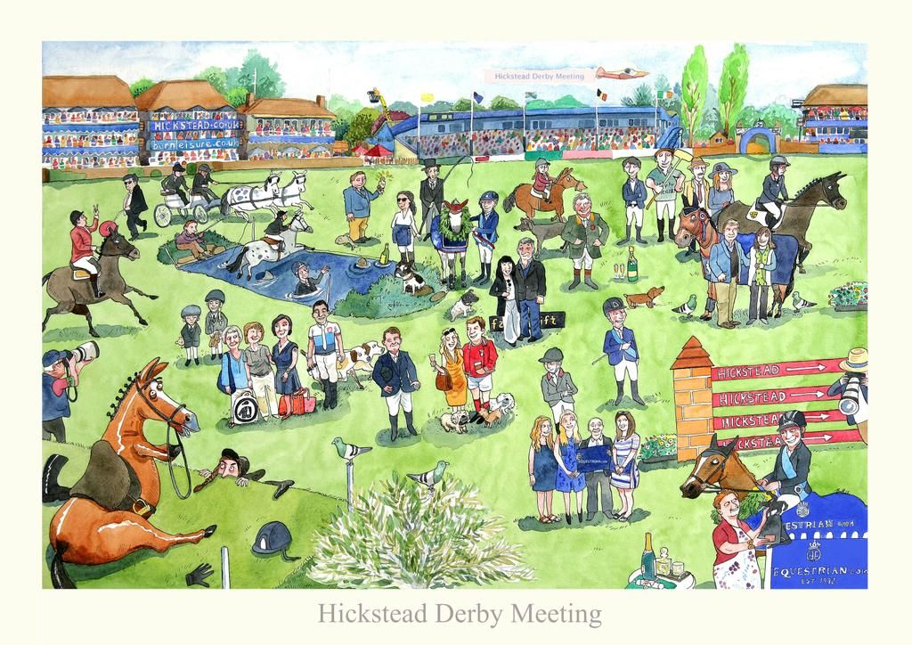 @HicksteadEvents Derby Meeting signed prints are ready! Available from http://www.bretthudsonart.com  £25 + £4 P&P