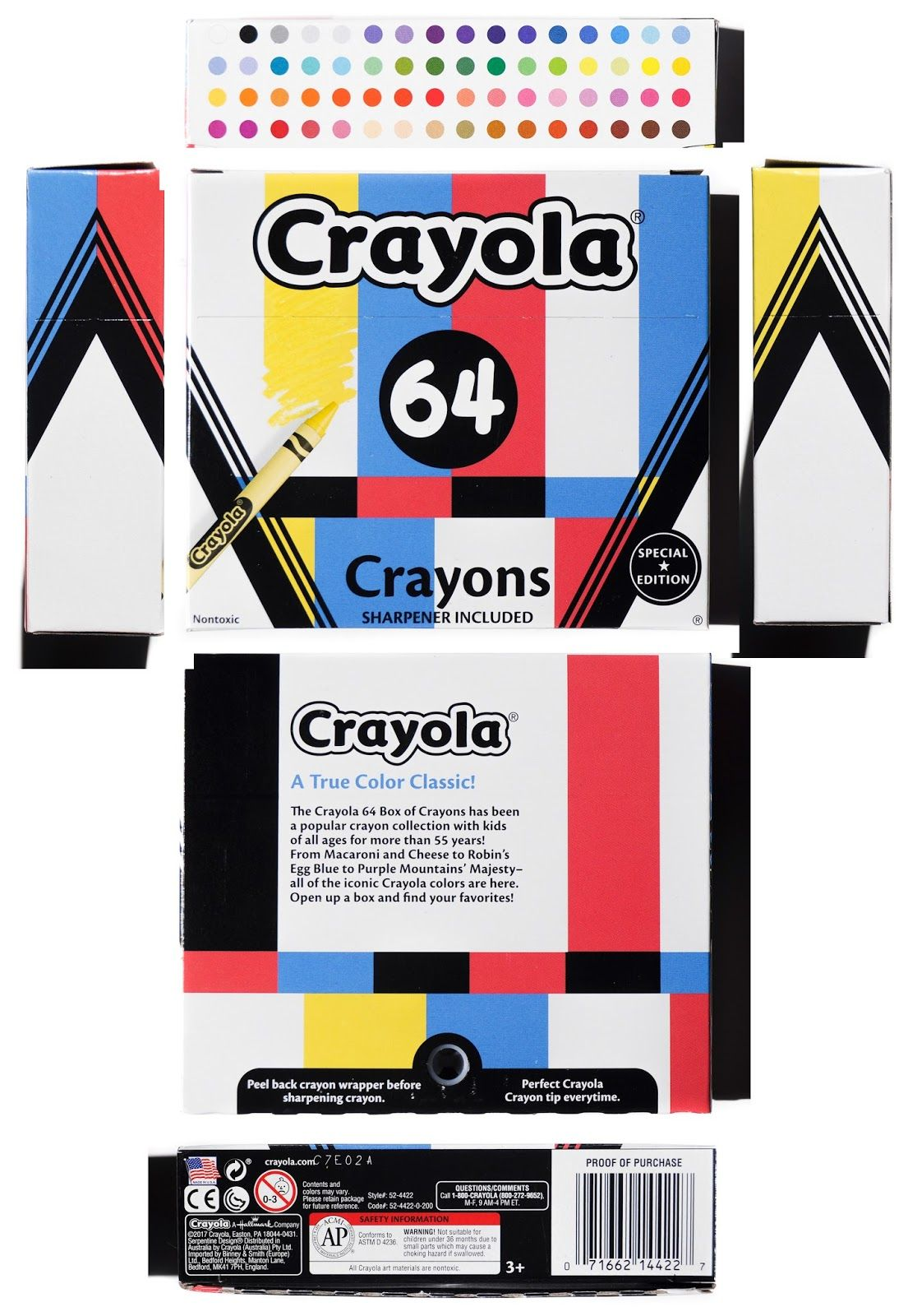Crayola Target Multicolor Poptimism Set Crayons 64 Pip Squeak