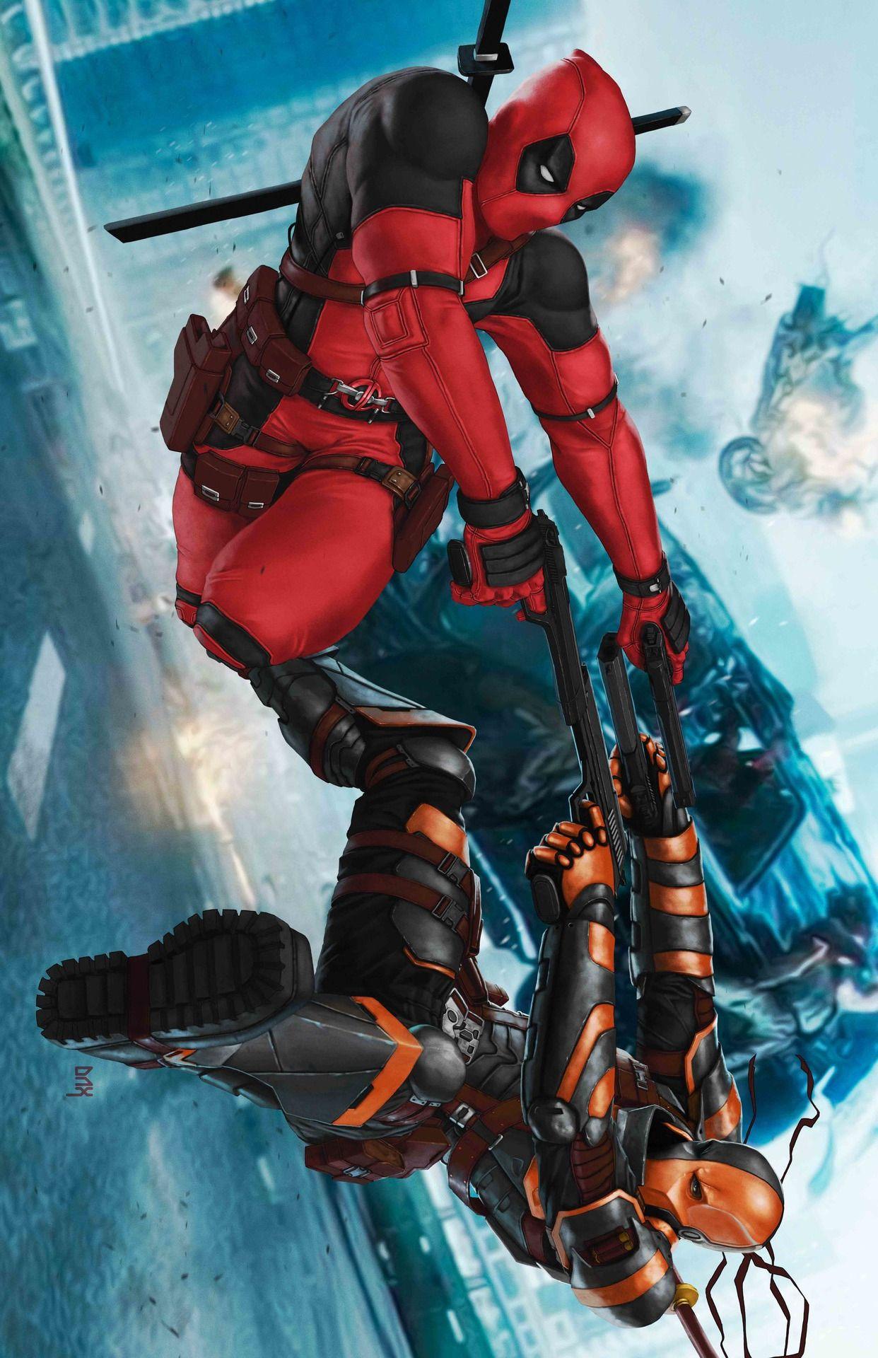 Deathstroke Vs Deadpool Arthur Dacayo Deadpool Comic Deadpool Comic Book Marvel Superheroes