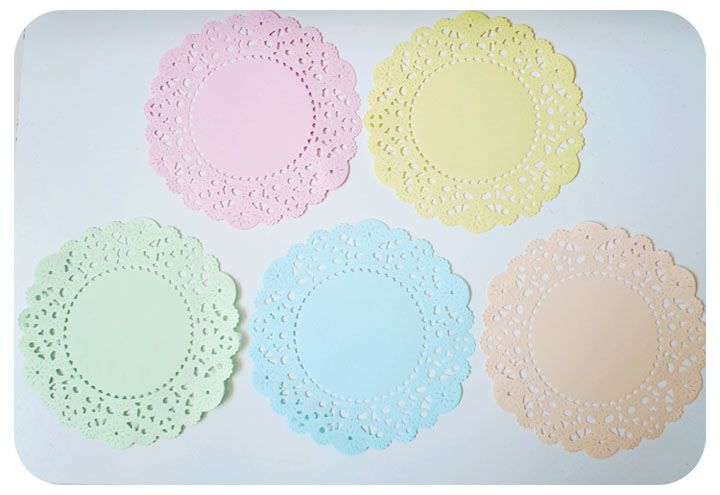 Pastel colored English Doily paper / pack & Pastel colored English Doily paper / pack | Paper Doilies ...