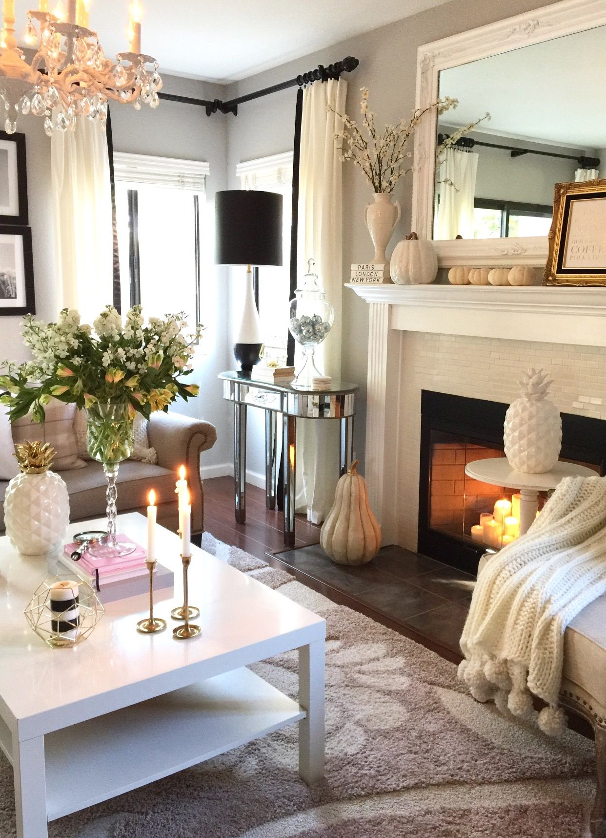 The case for decorating with neutrals gold candles living rooms