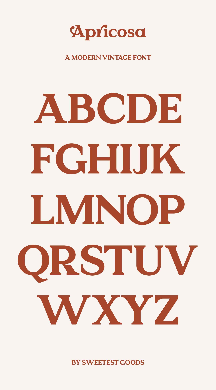 Apricosa Modern Vintage Font Logos In 2020 Vintage Fonts Vintage Fonts Alphabet Logo Design Free Templates
