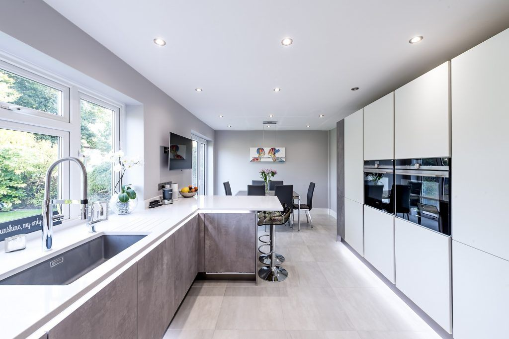 Best This Beautiful Kitchen In Bushey Comprises Of Grey 640 x 480