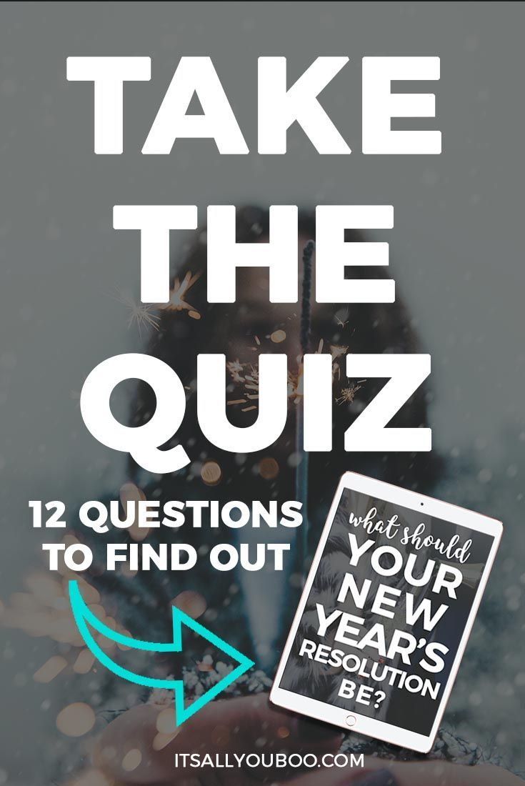 Before you choose your 2018 New Year's Resolution, take the quiz