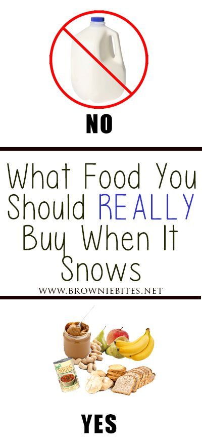 The food you should ACTUALLY be buying to prepare for a snow storm or power outage #hurricanefoodideas