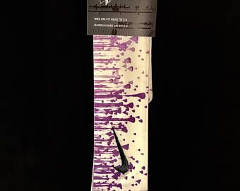 87c3df2536373 Custom Monotone Purple Droplets Nike Dri-Fit Head Tie Headband ...