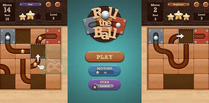 Roll the Ball slide puzzle App Puzzle, Ball, Slide