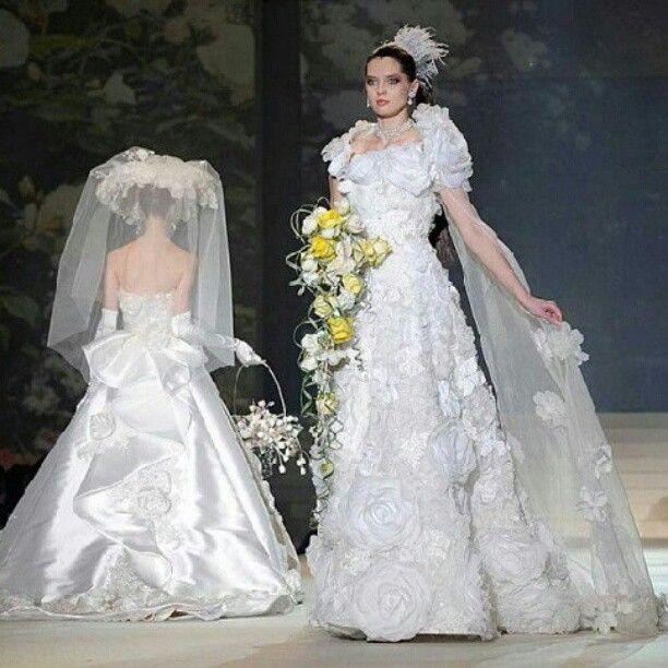 Most Expensive Wedding Dresses Yumi Katsura White Gold Diamond
