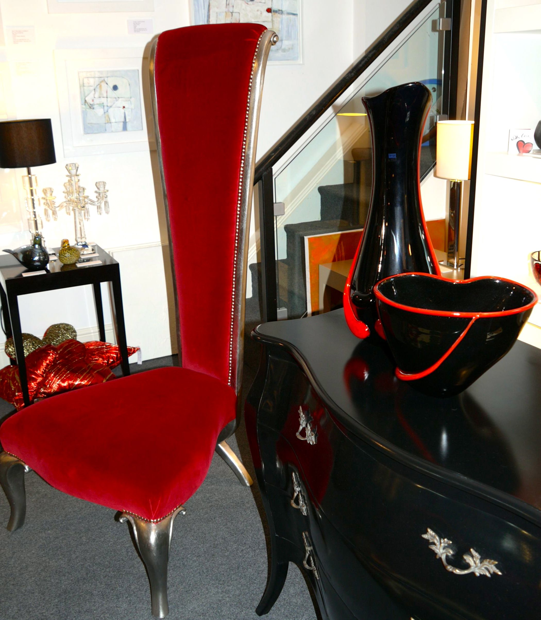 Union showroom in grantham scarlet orchid black tall vase and union showroom in grantham scarlet orchid black tall vase and bowl svaja reviewsmspy