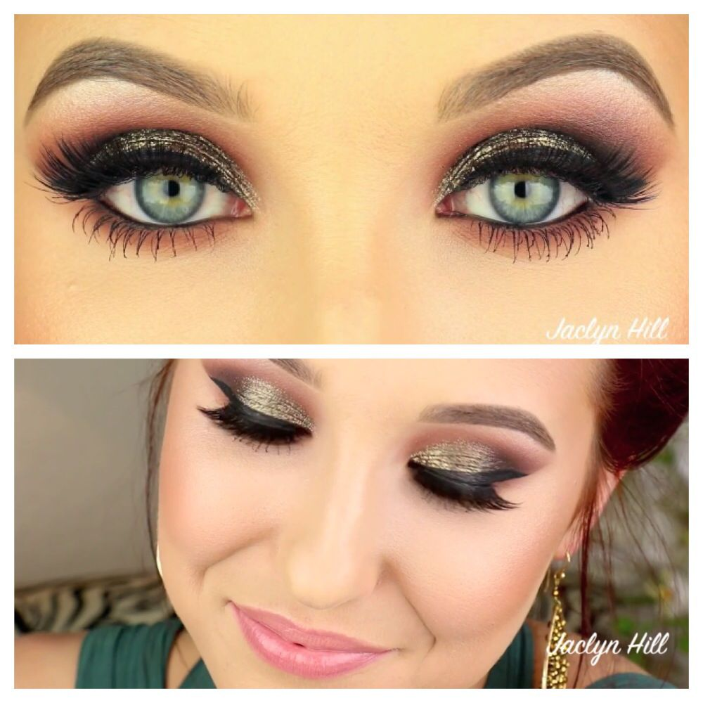 Smokey eye makeup with hint of color antique gold blended into smokey eye makeup with hint of color antique gold blended into warm baditri Image collections