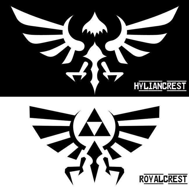 Hylian Crest Vs Royal Crest Zelda Pinterest Legend Of Zelda