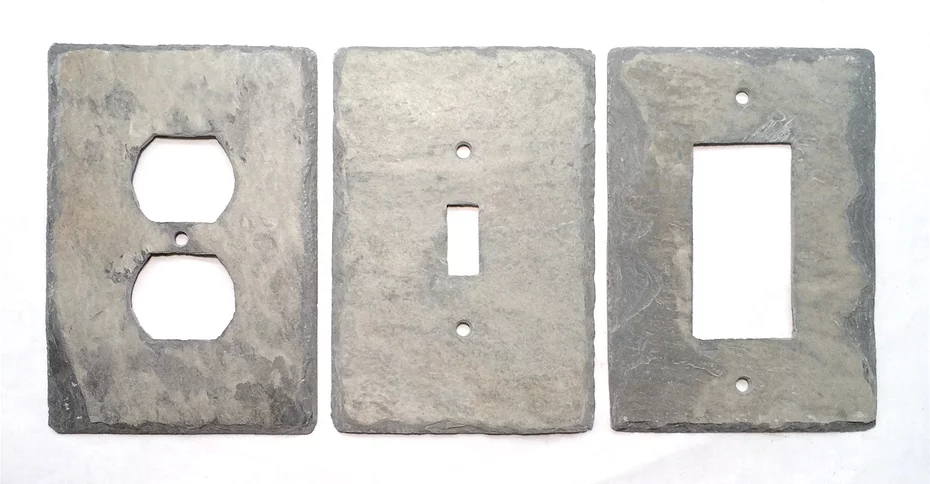 Slate Wall Plates Vermont Gray Slate Light Switch and