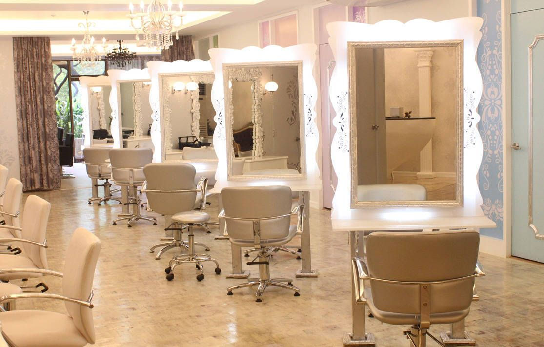 Salon decorating on pinterest beauty salon interior for Decoration salon francais