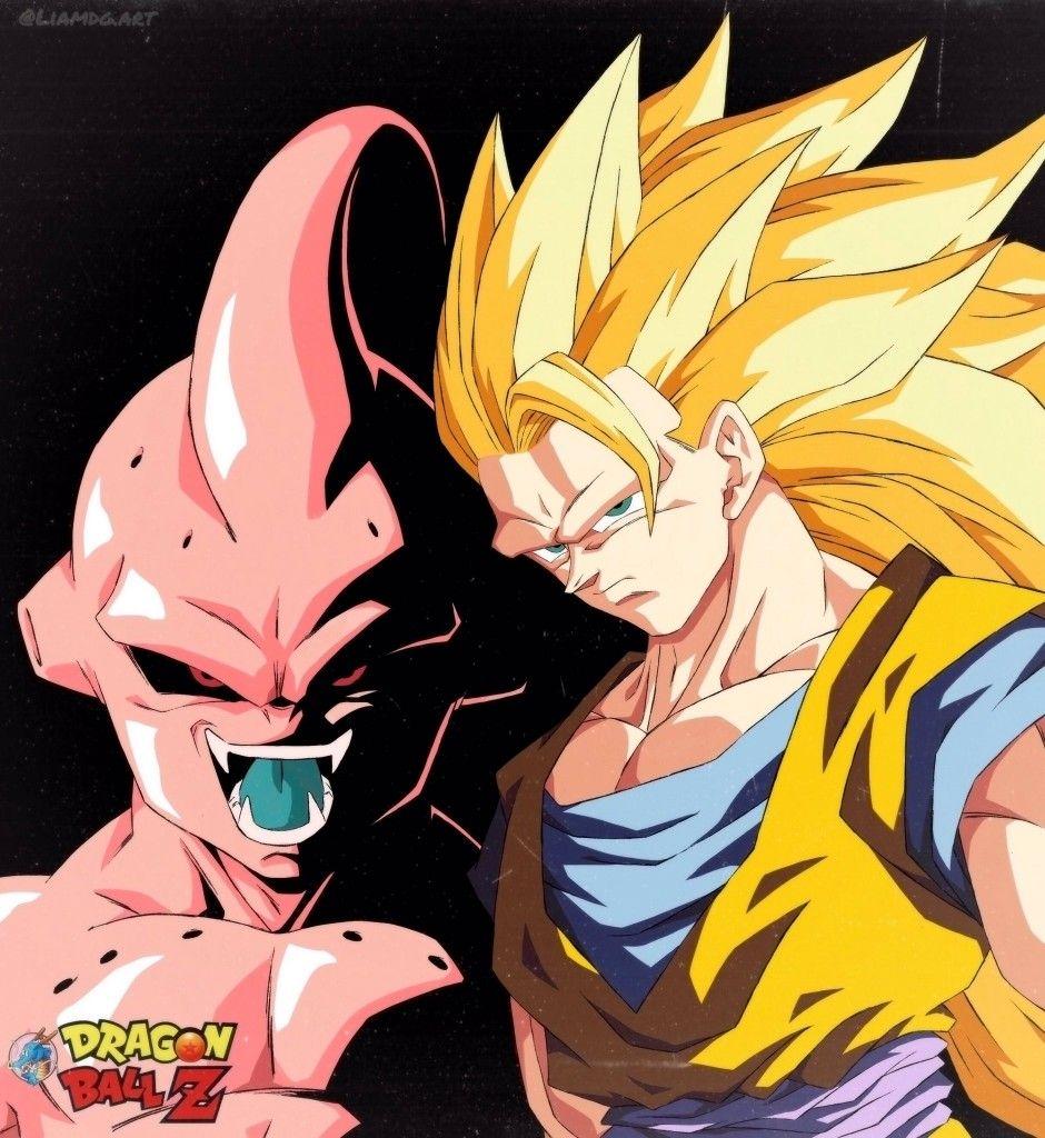 Goku Super Saiyan 3 Vs Kid Buu By Liamdg Goku Vs Kid Buu Dragon Ball Artwork Dragon Ball Z