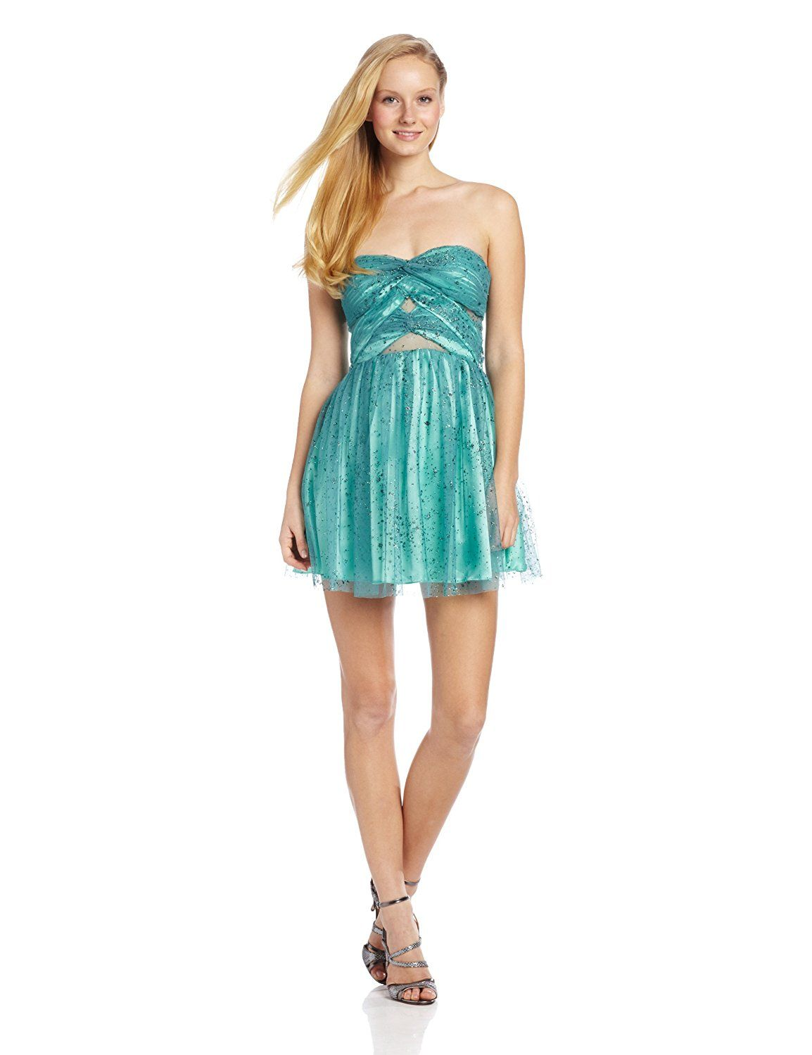 2dd20d8e28c766 Hailey Logan by Adrianna Papell Juniors Glitter Party Diamond Cutout Dress    Awesome product. Click the image   Women s dresses