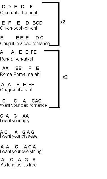 Flute Sheet Music: Bad Romance | Music | Flute sheet music, Trombone