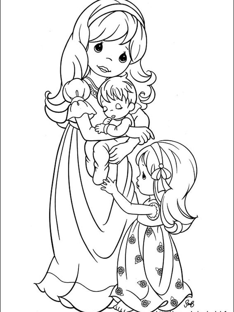 Precious Moments Spring Coloring Pages Following This Is Our Collection Of Precious Moment Coloring Page You Are Free To Download And Make It Your Chil Lukisan