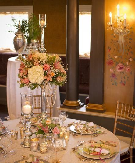 Mercury Glass Candlesticks Votives Vases For Wedding Decor