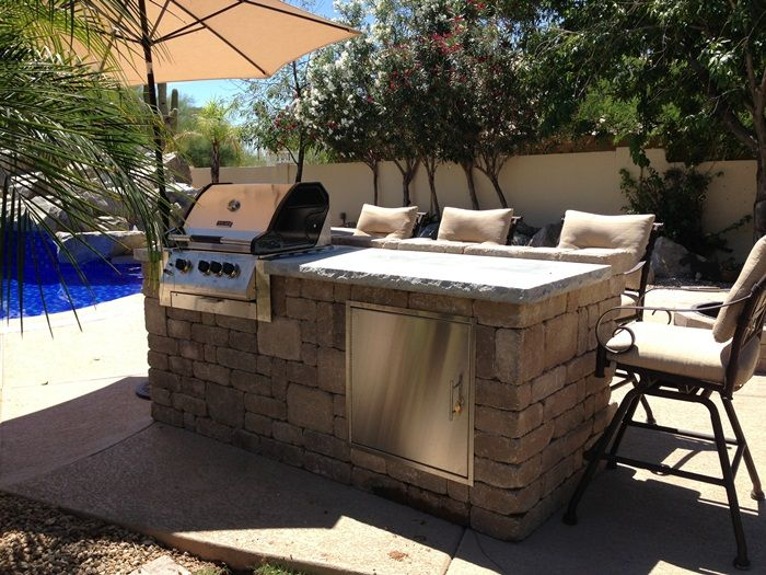 Backyard Bbq Islands Outdoor Kitchens And Fire Pits Az Landscape
