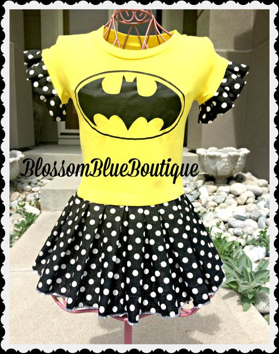 girls Batman toddler Batman dress 2T 3T 4T by BlossomBlueBoutique ...