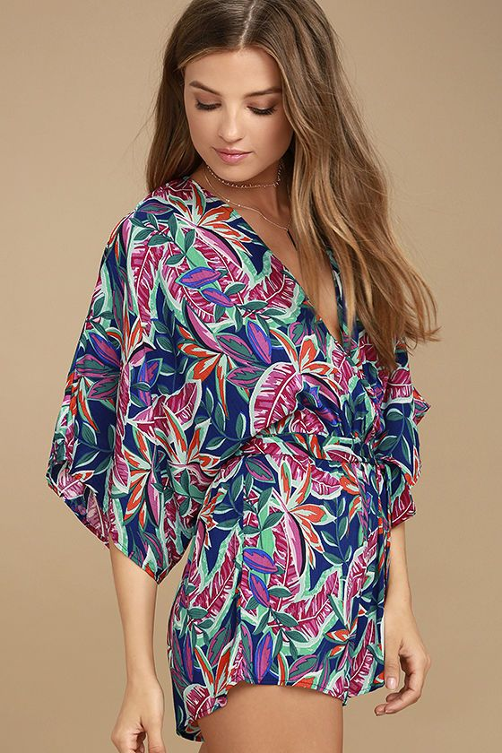 7c172cfc73a Get lost in the rhythm of the music in the Hypnotized Purple Print Romper!  Vibrant purple