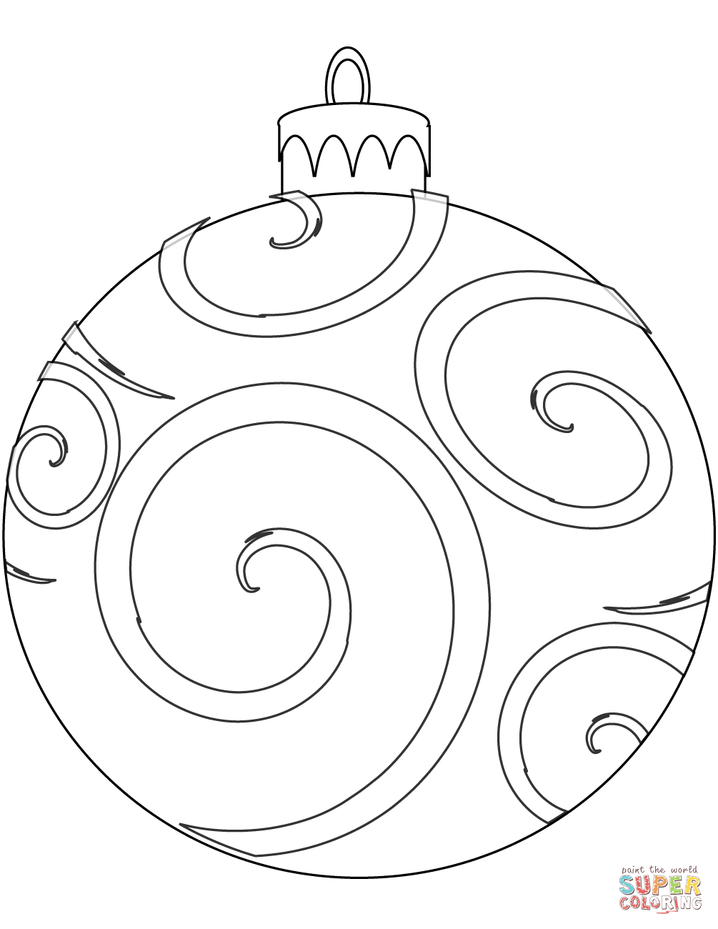 Holiday Ornament Coloring Page From Christmas Decoration Cate Printable Christmas Coloring Pages Christmas Ornament Coloring Page Printable Christmas Ornaments