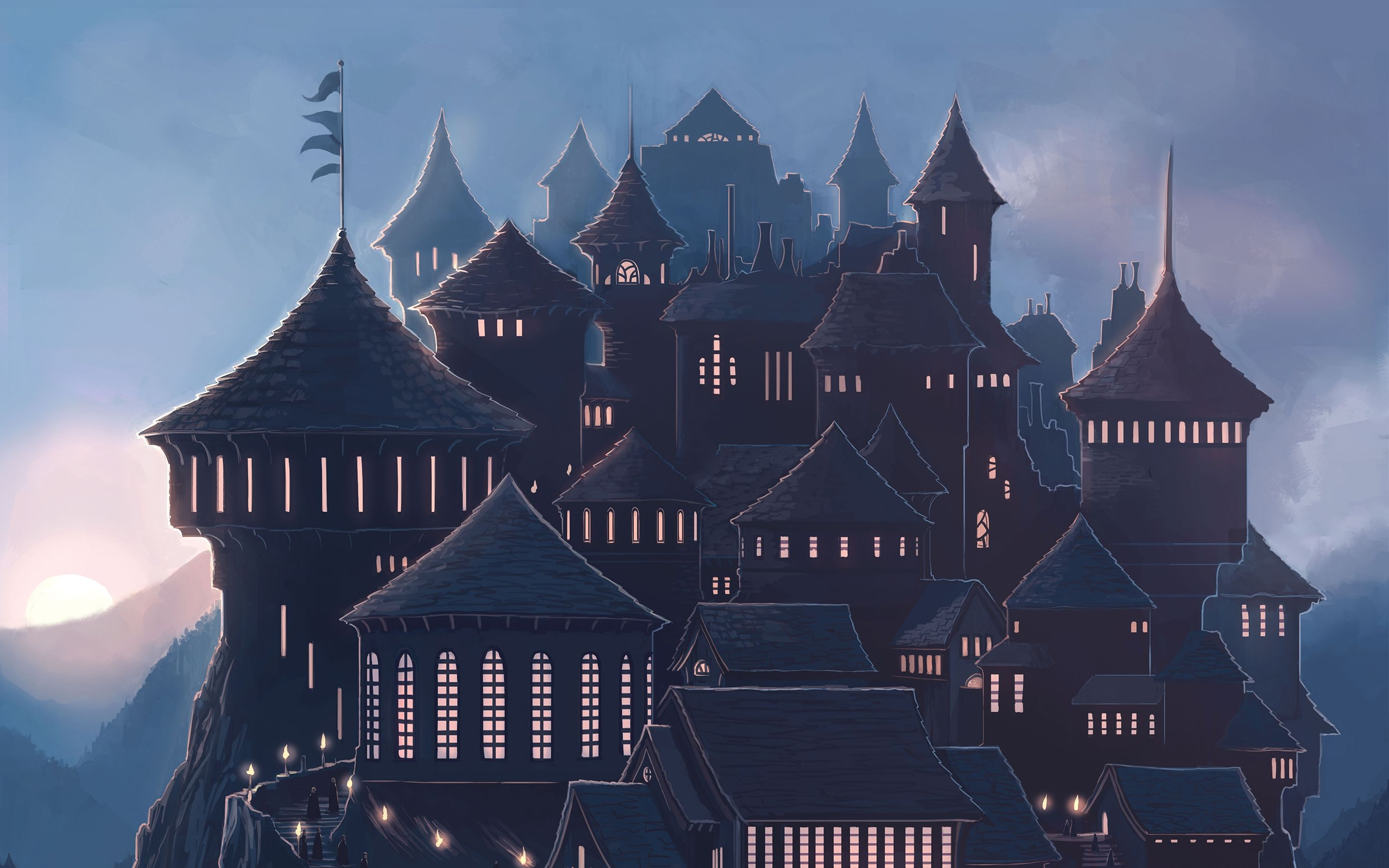 Hogwarts 5k Hd Wallpaper Harry Potter Wallpaper Desktop Wallpaper Harry Potter Harry Potter School
