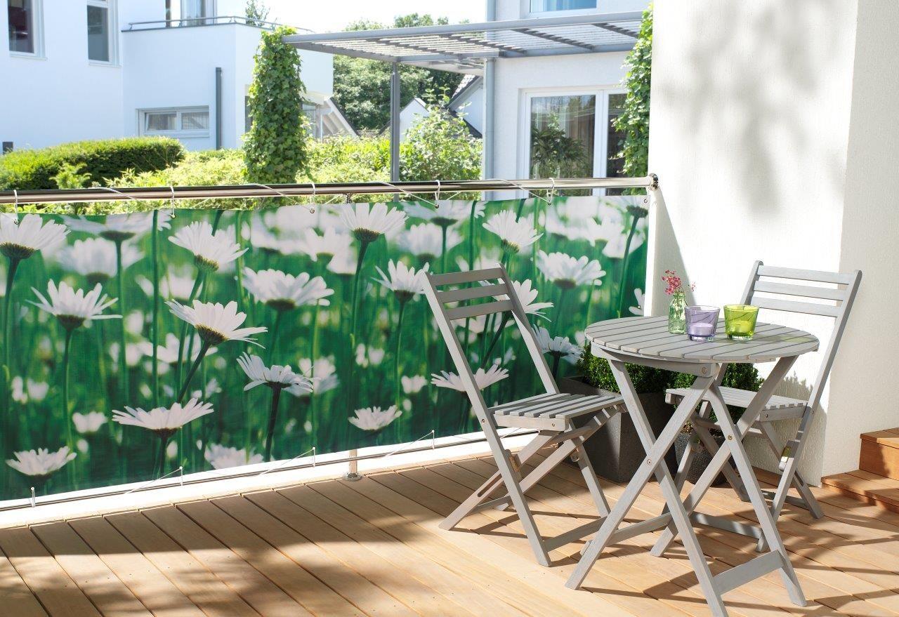 wohnwohl® balkonumspannung balkonbespannung sichtschutz windschutz, Garten ideen
