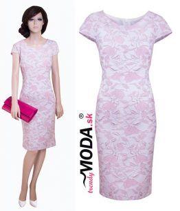 3276d41bfe02 Ružové spoločenské šaty pre moletky– trendymoda.sk