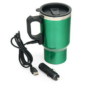 Thinkgeek Dual Heated Travel Mug With Usb Plug For Your Car S Cigarette Lighter The Perfect Roadtrip Accesory