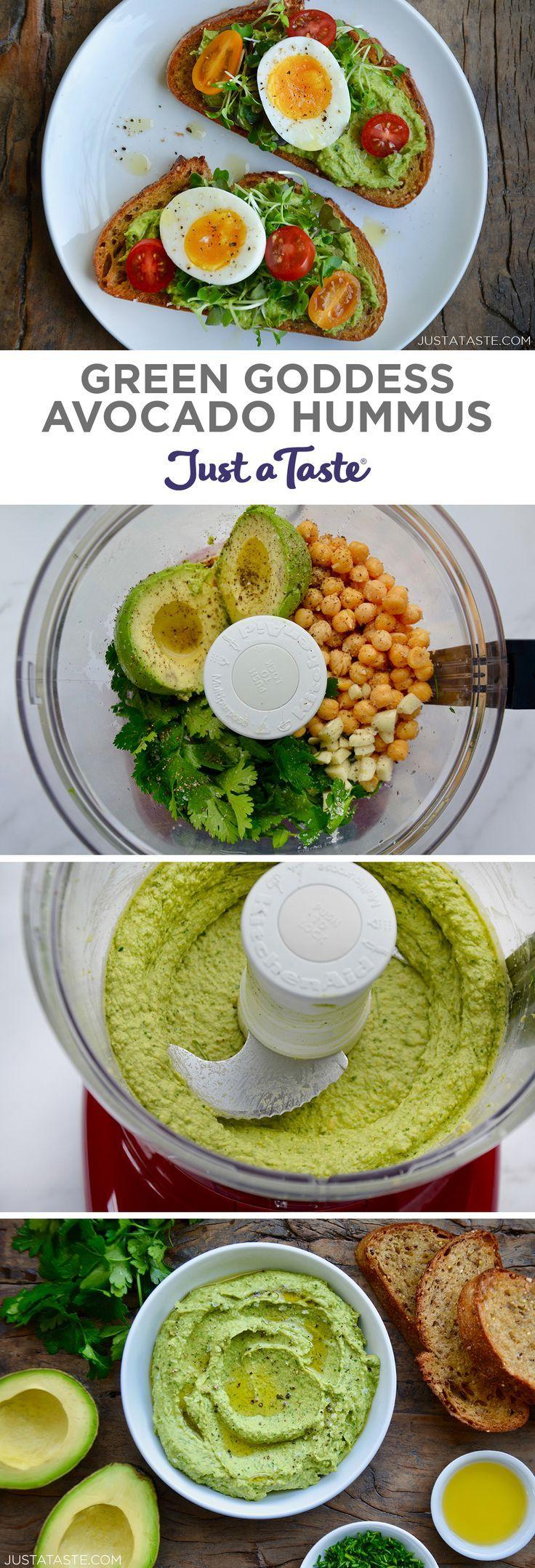 Green Goddess Avocado Hummus Recipe What do you get when you cross a bowl of guacamole with a garde