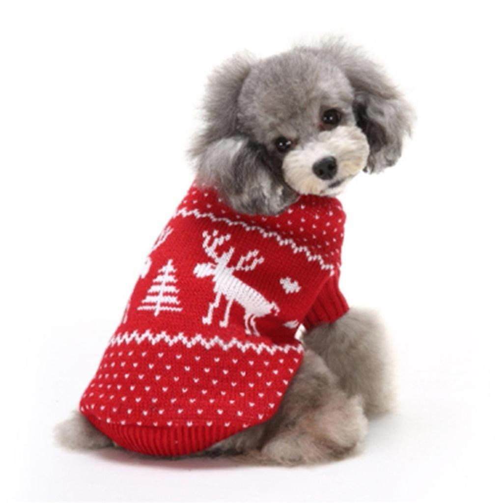 catBoBo cat Dog Cat Christmas Reindeer Costumes Sweater Clothes for ...