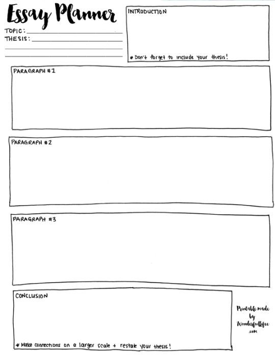 Free essay planner Ready to Print Worksheets Pinterest High - essay