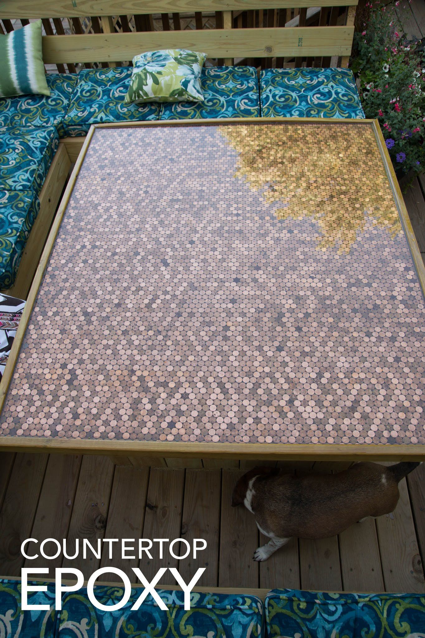 Create Your Own Penny Coffee Table Using Non Toxic Epoxy