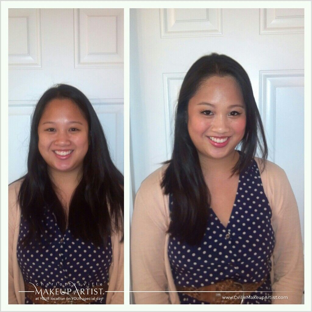 wedding makeup for the asian bride (before and after) with natural