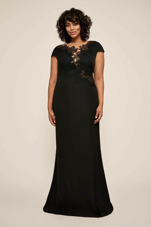 158cc3941cbd56a Tadashi Shoji BFE18946LQ Черное Вечернее Платье | Вечерние платья ...