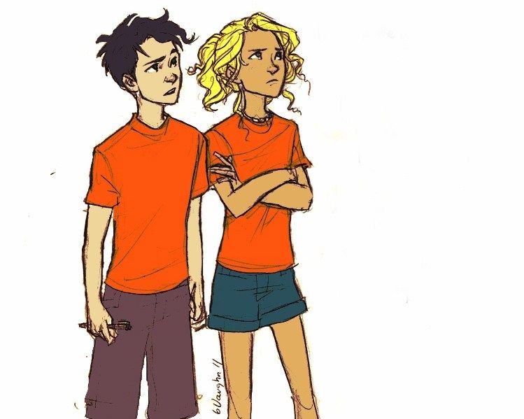 Little Percy and Annabeth