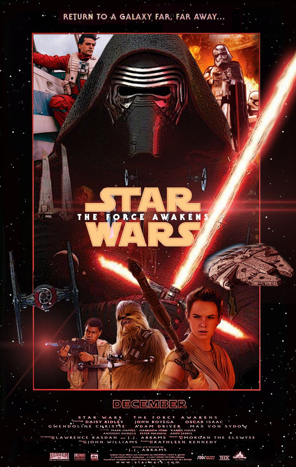 Star Wars The Force Awakens Poster Force Awakens Poster Star Wars Vii Force Awakens