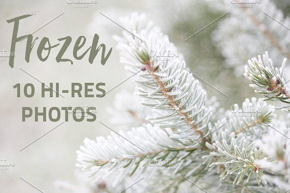Frozen - 10 Hi-Res Photos by Cherry Picked Photos on @Graphicsauthor