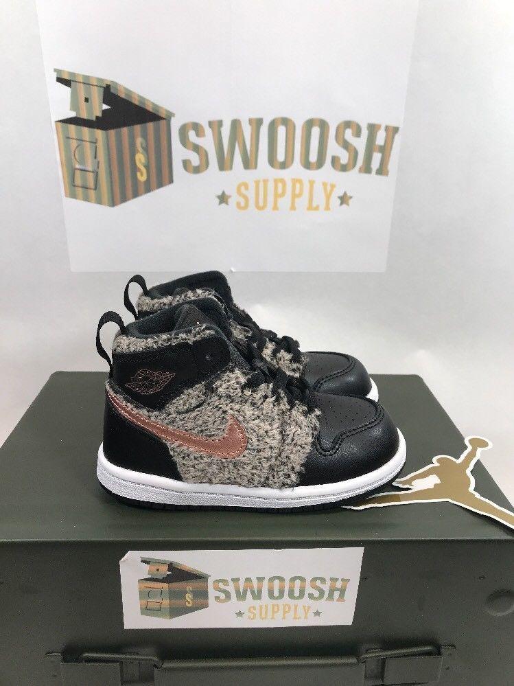 Nike Jordan 1 Retro High GT Size 7C Toddler 705323 022 Fur Metallic Red  Bronze  Nike  Athletic 59a2761859