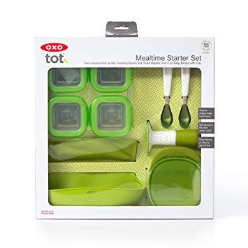 Oxo Tot Mealtime Starter Value Set With Roll Up Bib