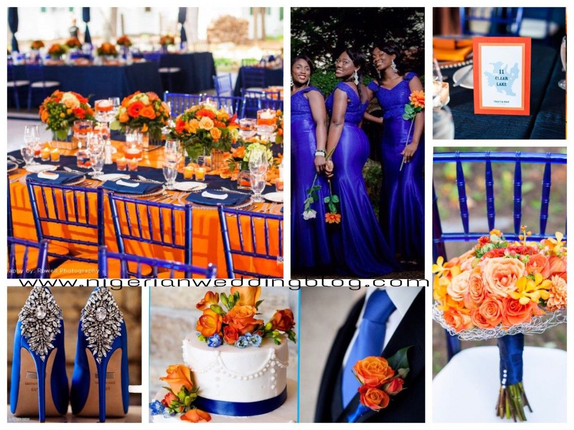 Nigerian Wedding: Royal Blue & Orange Wedding Color Sceheme ...