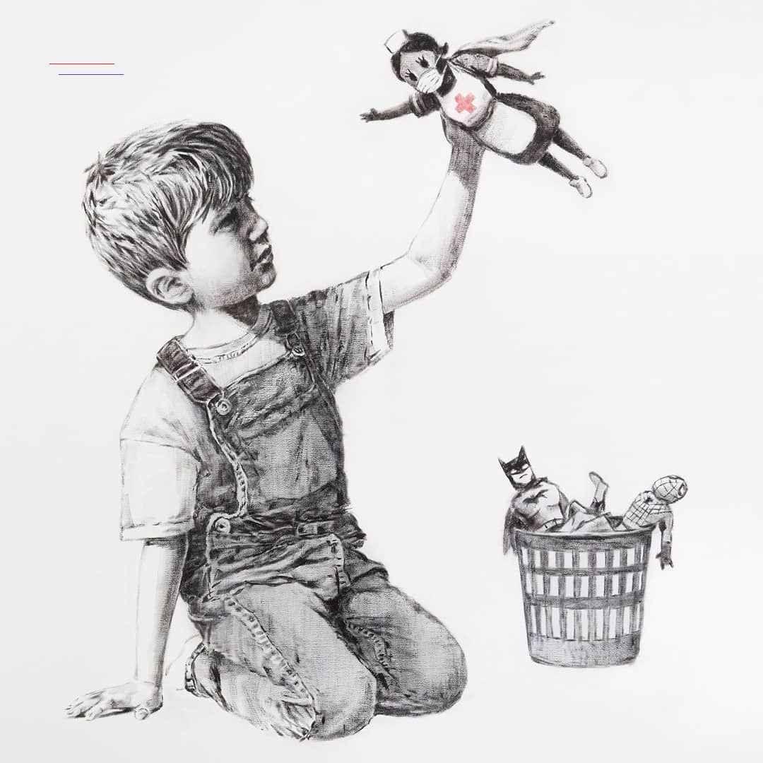 """Banksy on Instagram """". . Game Changer"""" banksyart em"""