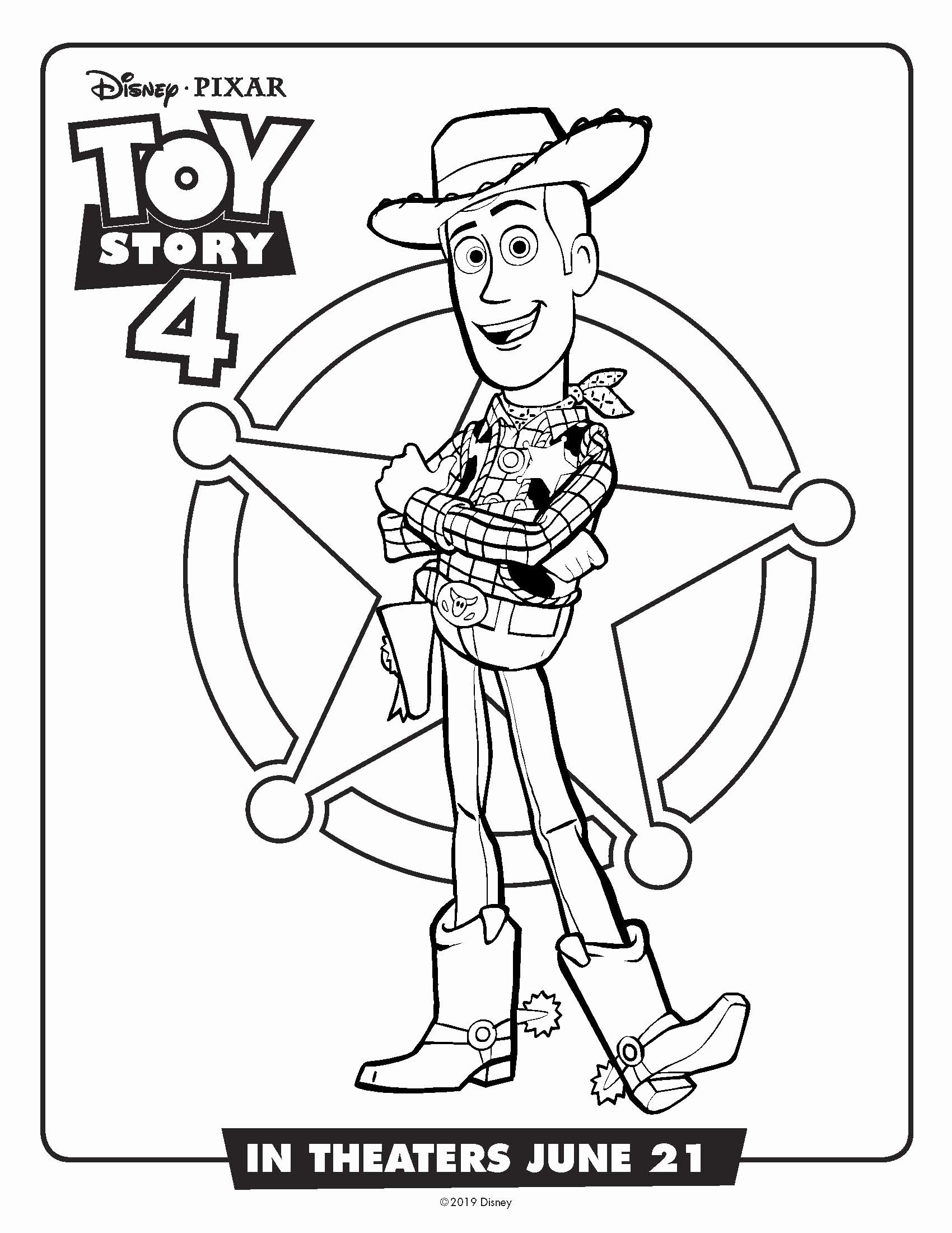 Coloring Woody Toy Story Unique Coloring Pages 45 Marvelous