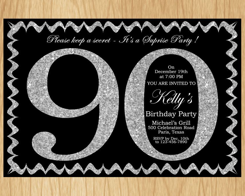 Best 90th Birthday Invitations