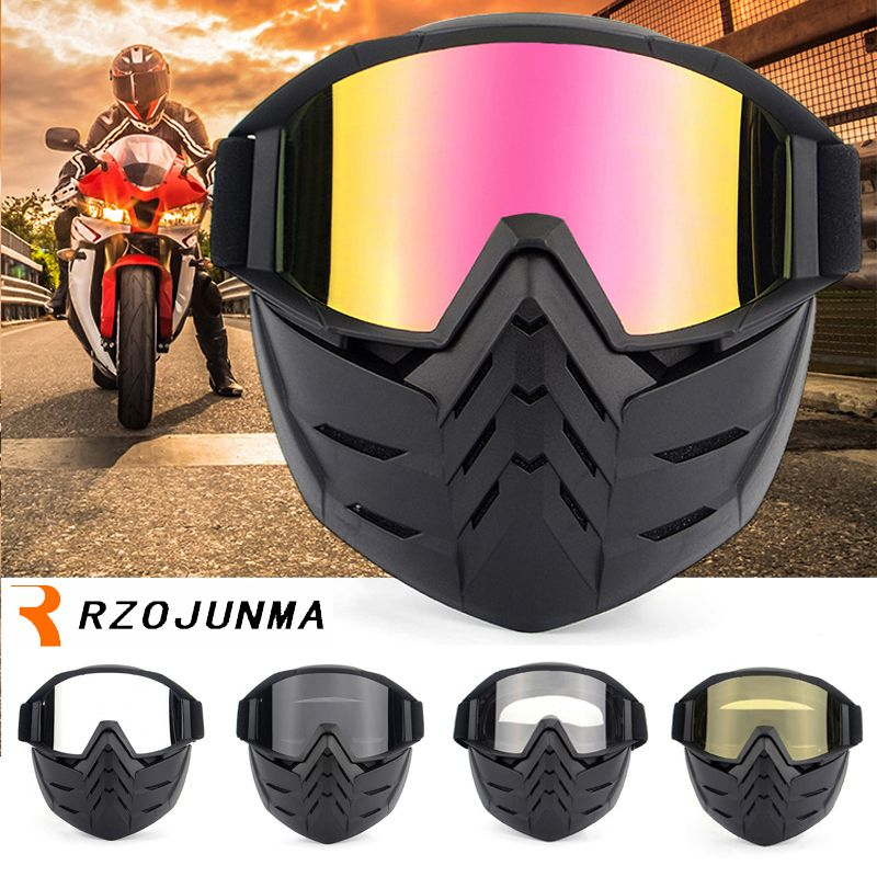 b4bc0c688b16 Find More Motorcycle Glasses Information about Ski Bike Motorcycle Face  Mask Goggles Motocross Motorbike Motor Open